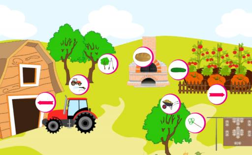 孩子的智力發展可以從一出生刺激。從一開始,也有用各種玩具,教具為我們的孩子充分發揮自己的積極性和學習的意願。當我們的孩子長大開始發現身邊有趣的世界是我們的工作,以幫助他。我們相信,這個應用程序將在這個非常有用的。 所謂的農場動物的孩子們的應用程序的任務是提出的基礎性工作在農村。它將使你的孩子,以滿足各種動物(如雞,鴨,牛,豬)。孩子學會如何利用牛奶,奶酪,蜂蜜,如何修復籬笆或更換的拖拉機輪胎。 這些知識將通過執行相應的動作,如擰車輪上的拖拉機或割草糧食取勝。 此應用程序教因果關係。該應用程序通過視覺,聽
