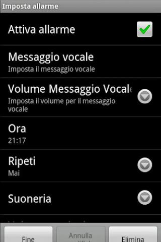Sveglia Parlante Screenshot