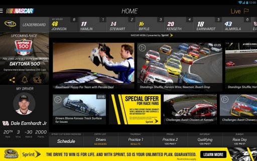 NASCAR MOBILE screenshot 1