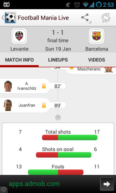live euro scores