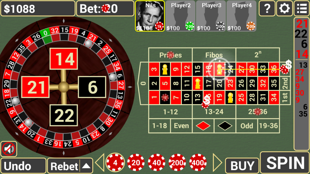 Three Reel Roulette - Free Casino Game - Play Now