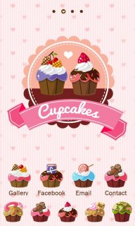 Cupcakes - GO Launcher Theme screenshot 1