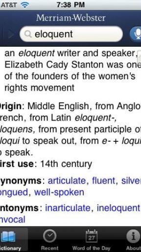 Antonym Dictionary Screenshot