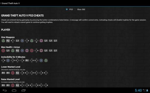GTA Cheats - for all GTA games screenshot 2