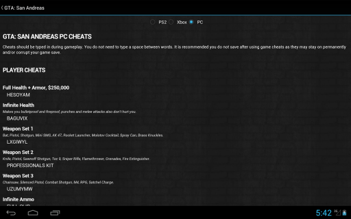 GTA Cheats - for all GTA games screenshot 3