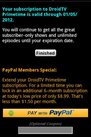 DroidTV Primetime screenshot 1