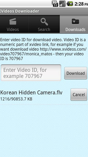 XVideos Downloader screenshot 1