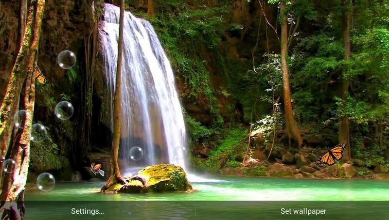 壁纸 风景 旅游 瀑布 森林 山水 桌面 800_454