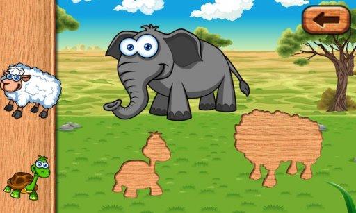 动物游戏之谜的孩子蹒跚学步