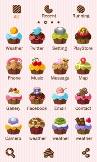 Cupcakes - GO Launcher Theme screenshot 2