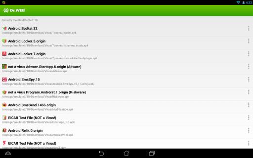 Dr.Web Anti-virus Light (free) screenshot 8