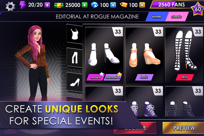 Fashion Fever Top Model Game Screenshot 2