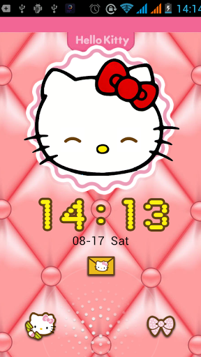 Hello Kitty lock screen Screenshot