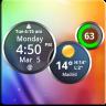 Rings Digital Weather Clock Icon