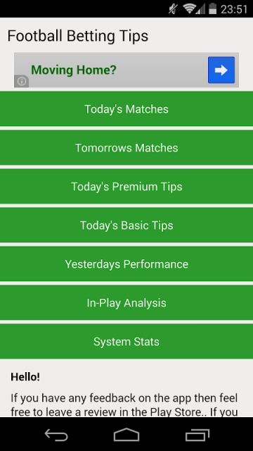 Betting tips 1x2 today games