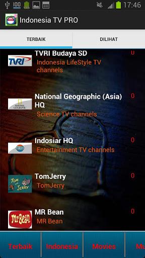 Indonesia TV PRO 250 Channels Screenshot