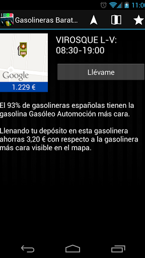 Gasolineras Baratas Screenshot