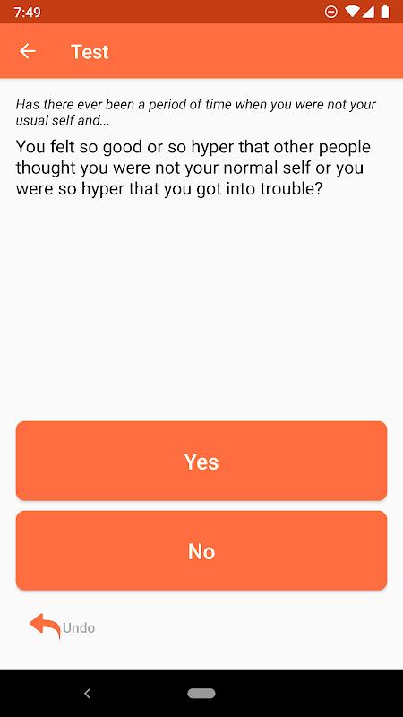 Bipolar Test screenshot 2