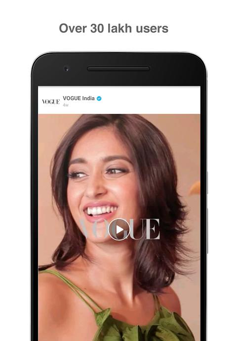 Roposo - Fun Videos, Editing, Chat Status, Camera screenshot 1