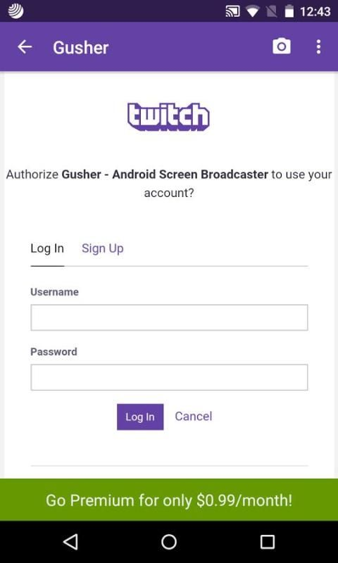 Gusher - Screen Broadcaster screenshot 2