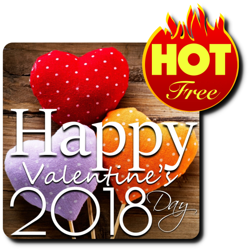 Glucklicher Valentinstag 2018 Icon