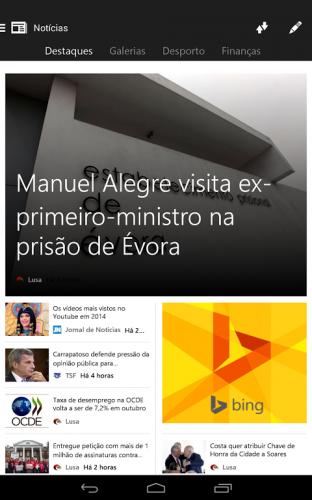 Microsoft Notícias screenshot 5
