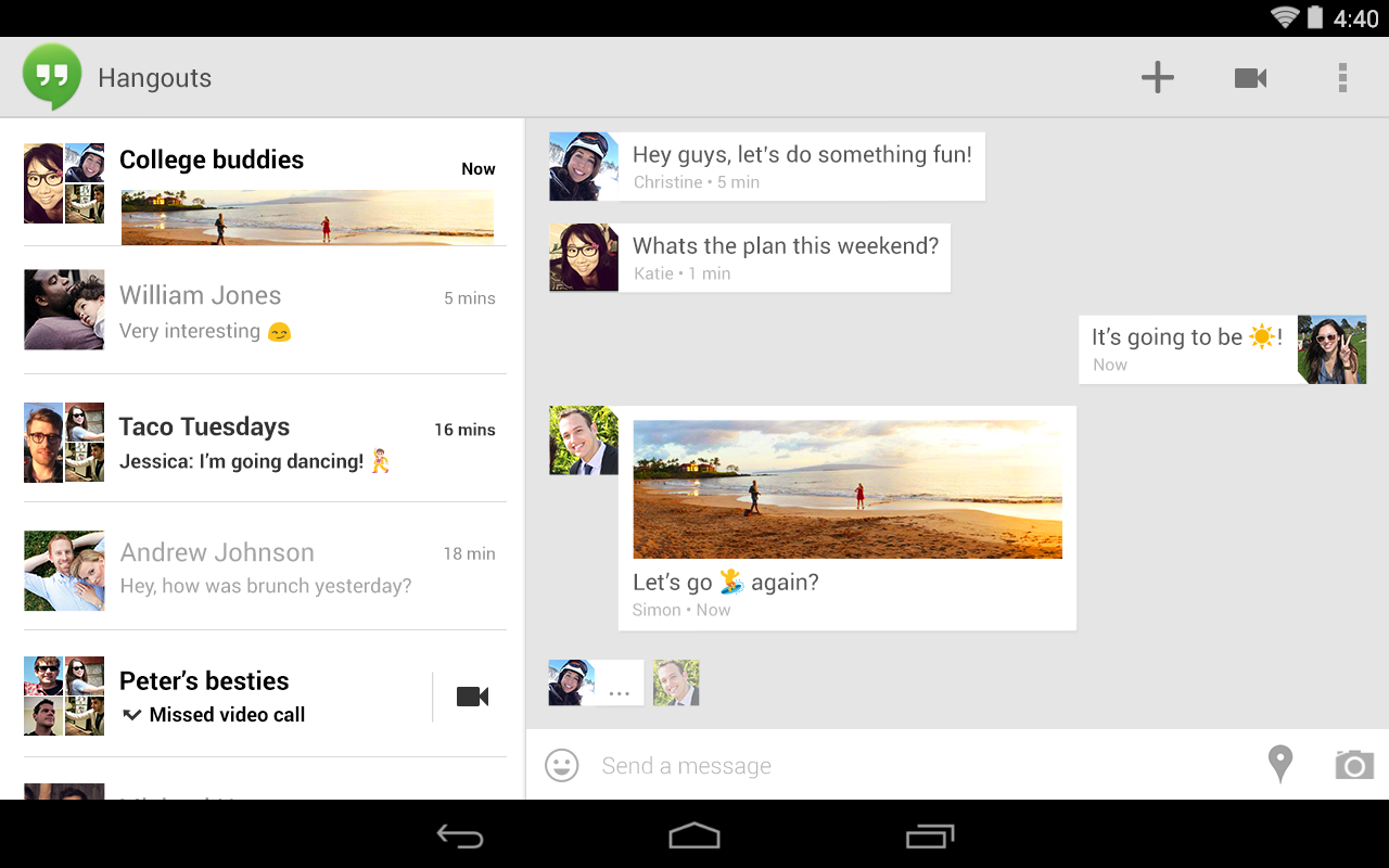 Hangouts screenshot 2