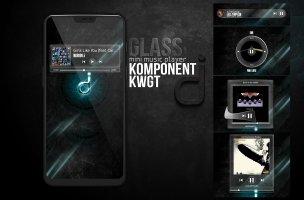 Komponent kwgt GlassMusic Screen