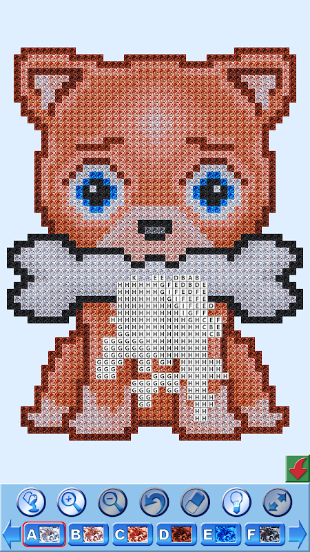 Cross Stitch Draw Sandbox Pixel Art Descop