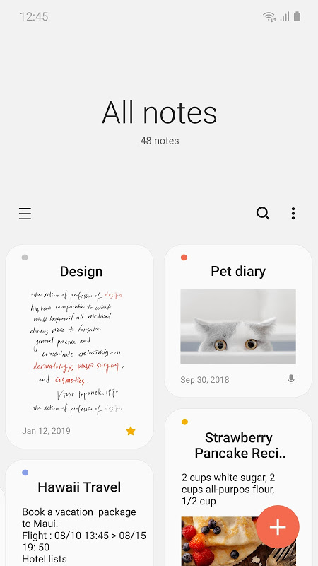 Samsung Notes screenshot 1