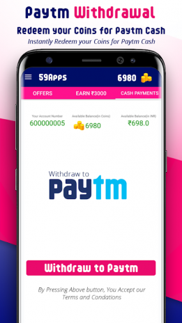 59Apps - Free Paytm Cash Upto ₹3000 &Free Recharge 2 1 2