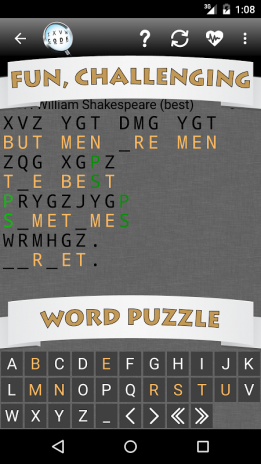 Cryptogram Word Puzzle 1 4 Download APK for Android - Aptoide