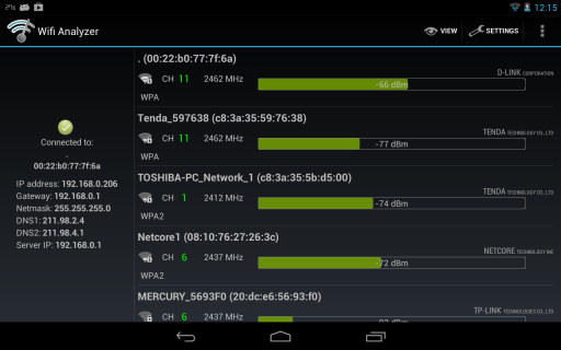 Wifi Analyzer screenshot 3