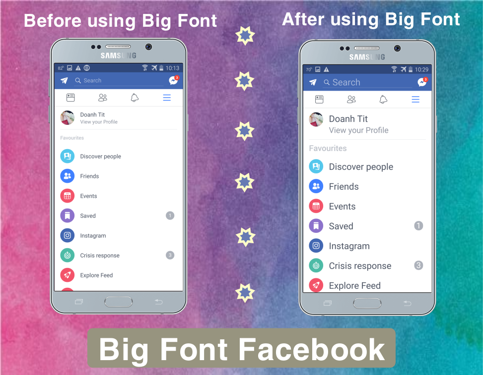 How to change font size on facebook on iphone