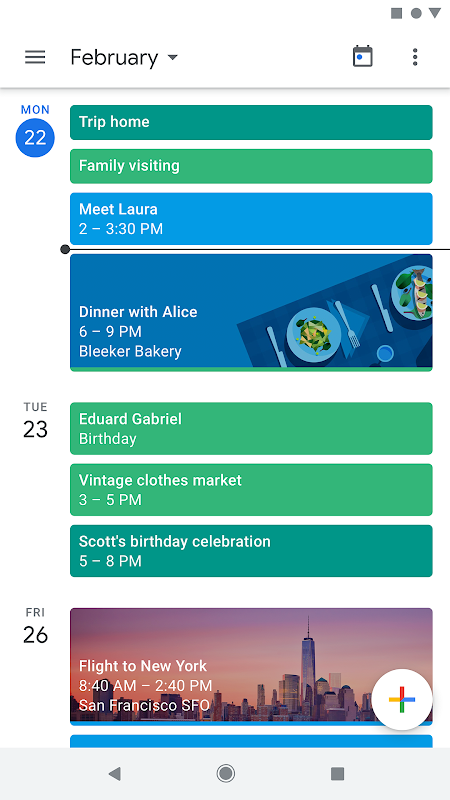 Google Calendar screenshot 10
