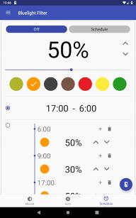Bluelight Filter for Eye Care - Auto screen filter screenshot 16