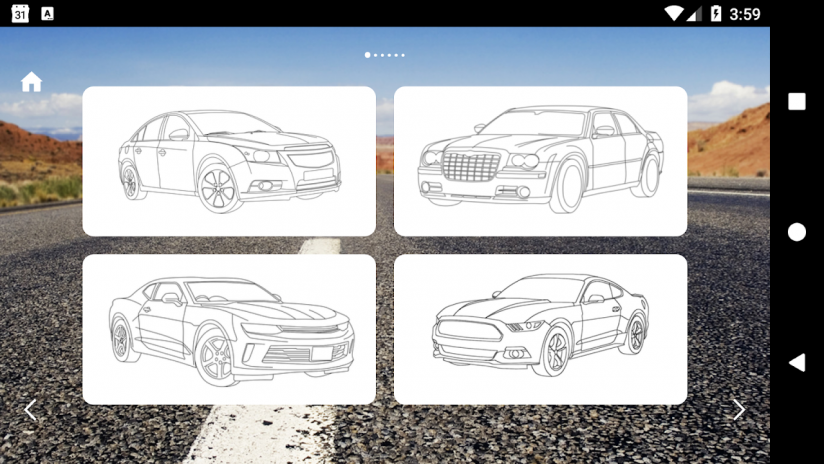 American Cars Coloring Book Screenshot 5