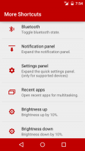 More Shortcuts Screenshot