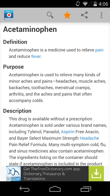 Medical Dictionary by Farlex screenshot 1