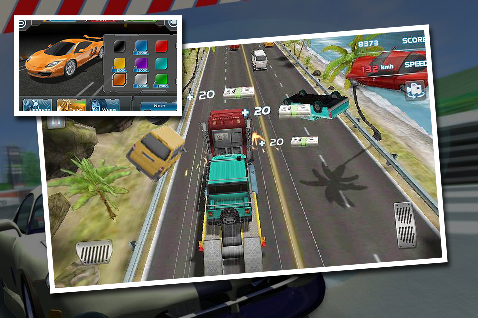 Turbo Car Traffic Racing screenshot 2