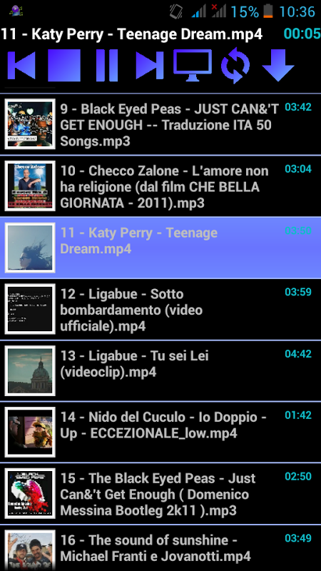 Video Player fundo screenshot 2