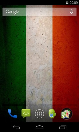 ... flag of italy live wallpaper screenshot 2 ...
