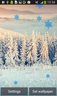 Snowfall Live Wallpapers screenshot 2