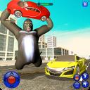Monster Gorilla Robot transform: City rampage