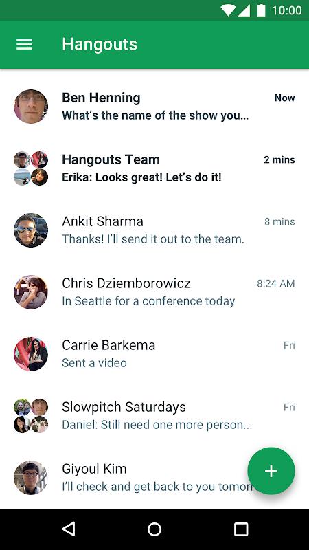 Hangouts screenshot 1