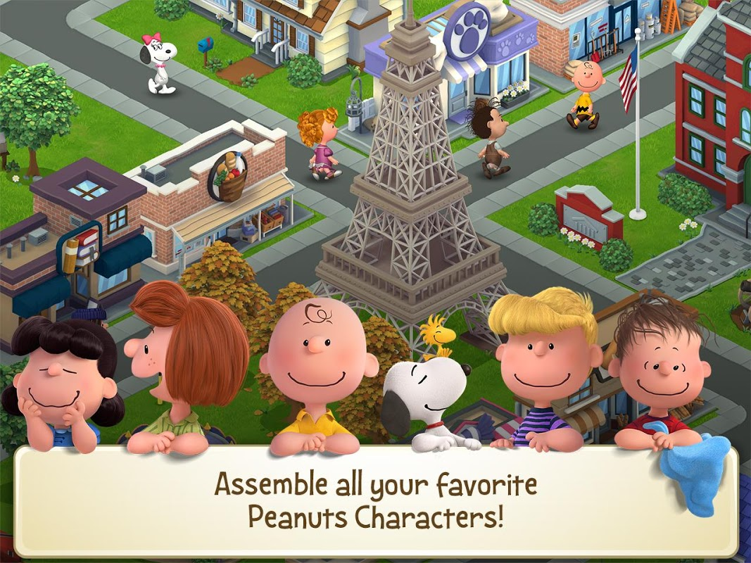 Snoopy's Town Tale - City Building Simulator screenshot 1