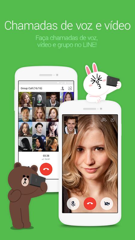 LINE: Call e Conversa de graça screenshot 2