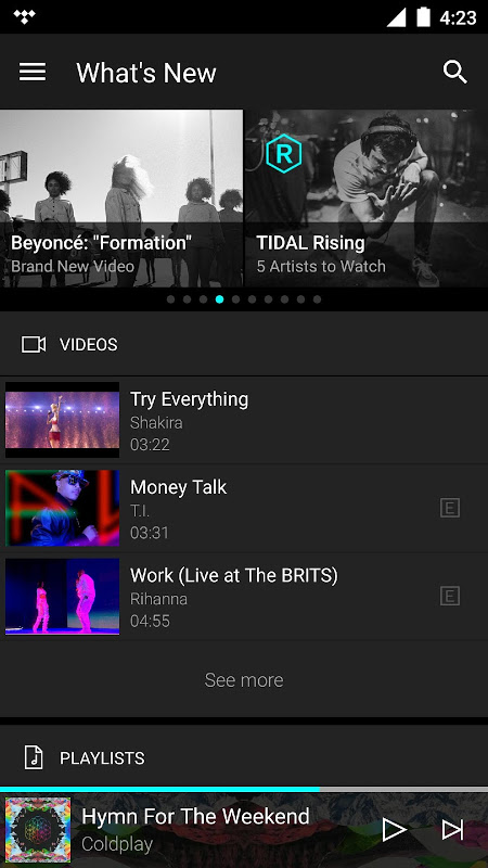 TIDAL - High Fidelity Music Streaming screenshot 2