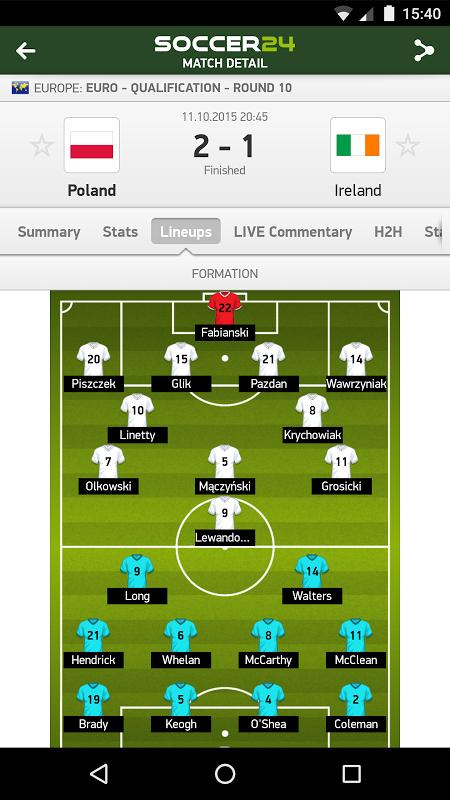 Soccer 24 - soccer live scores screenshot 2
