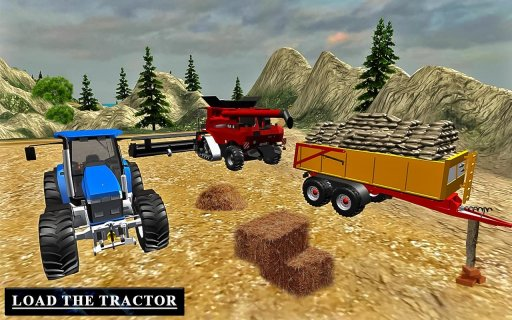 Heavy Tractor Trolley Driver Simulator Game screenshot 3